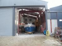 Set up for Spraying primer