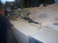 Spraying deck repair